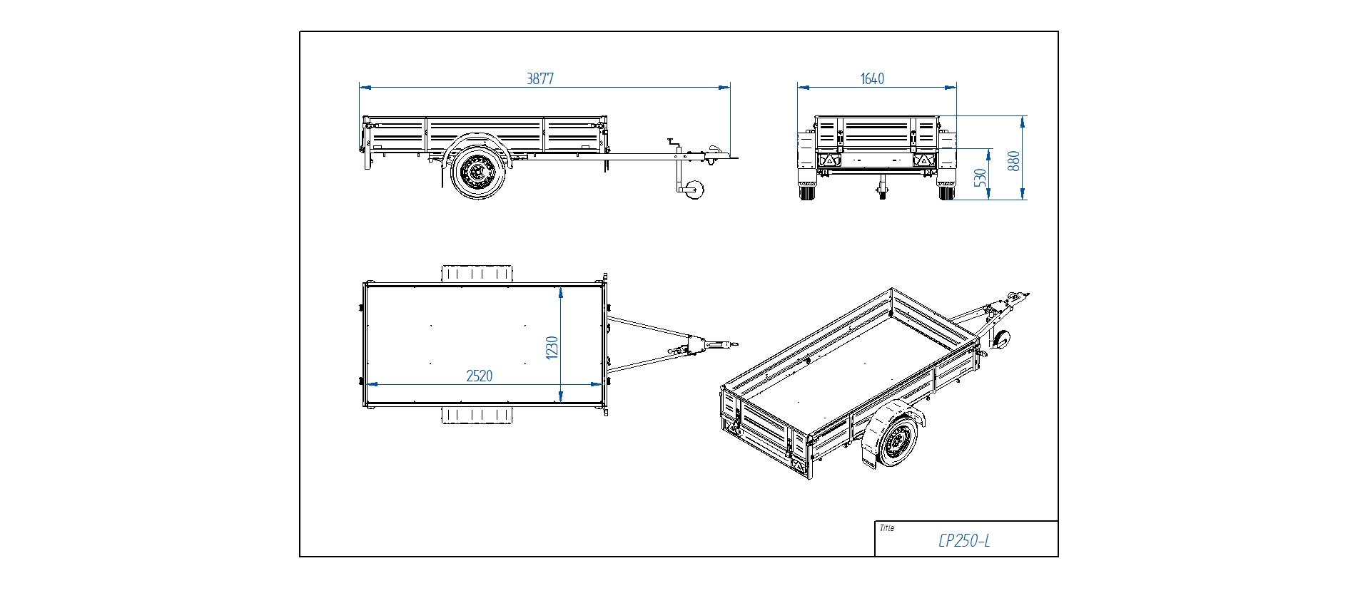 CP250-L [Attēli ir informatīvi un piekabes komplektācijā var būt iekļauts papildu aprīkojums]