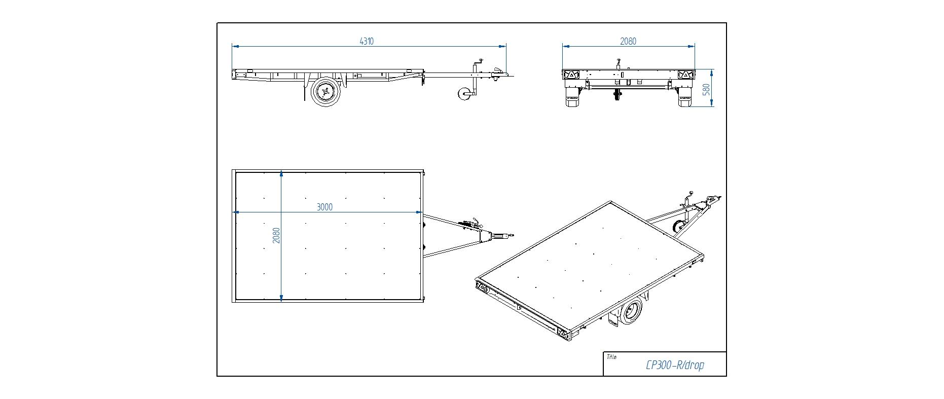 CP300-R [Attēli ir informatīvi un piekabes komplektācijā var būt iekļauts papildu aprīkojums]