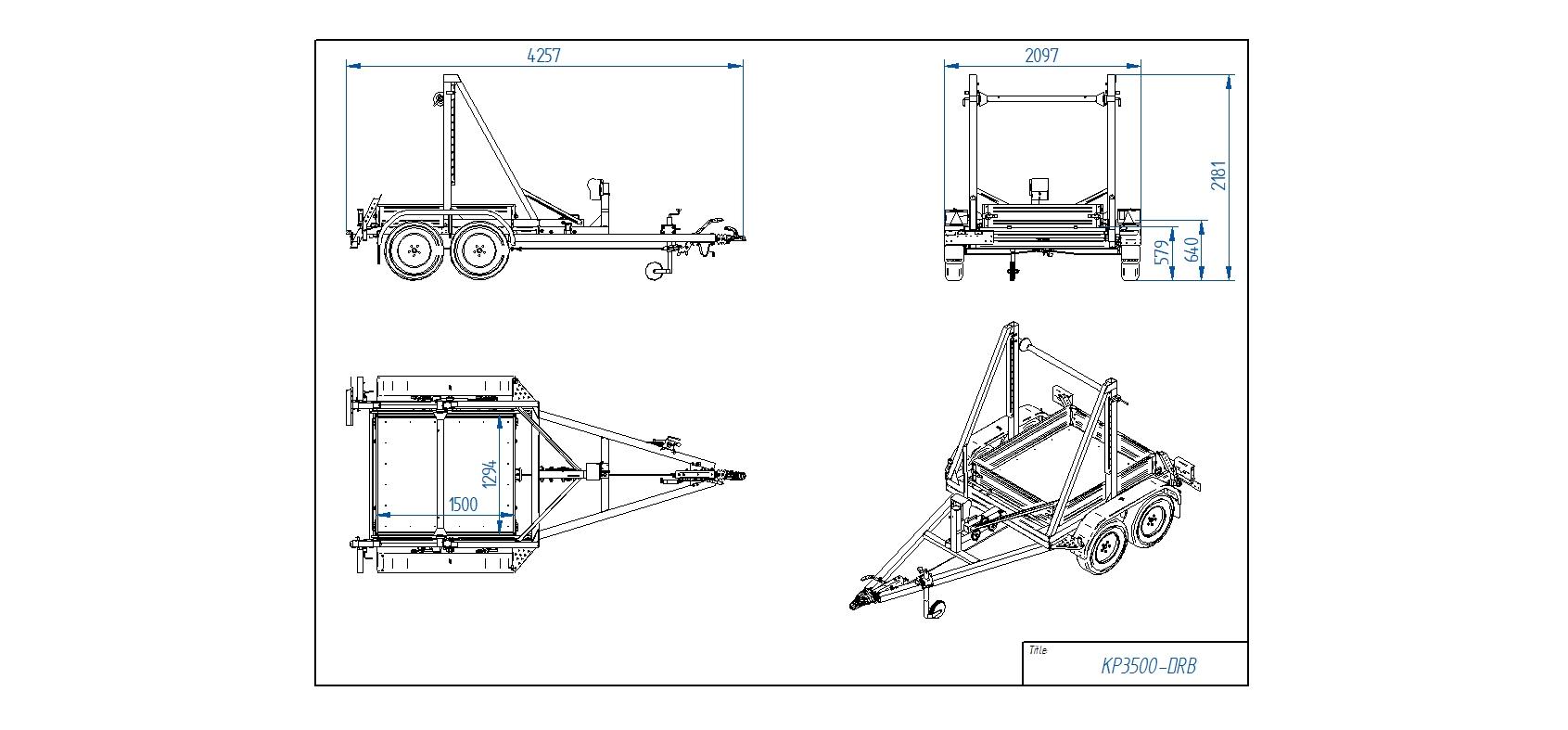 KP3500-DRB [Attēli ir informatīvi un piekabes komplektācijā var būt iekļauts papildu aprīkojums]