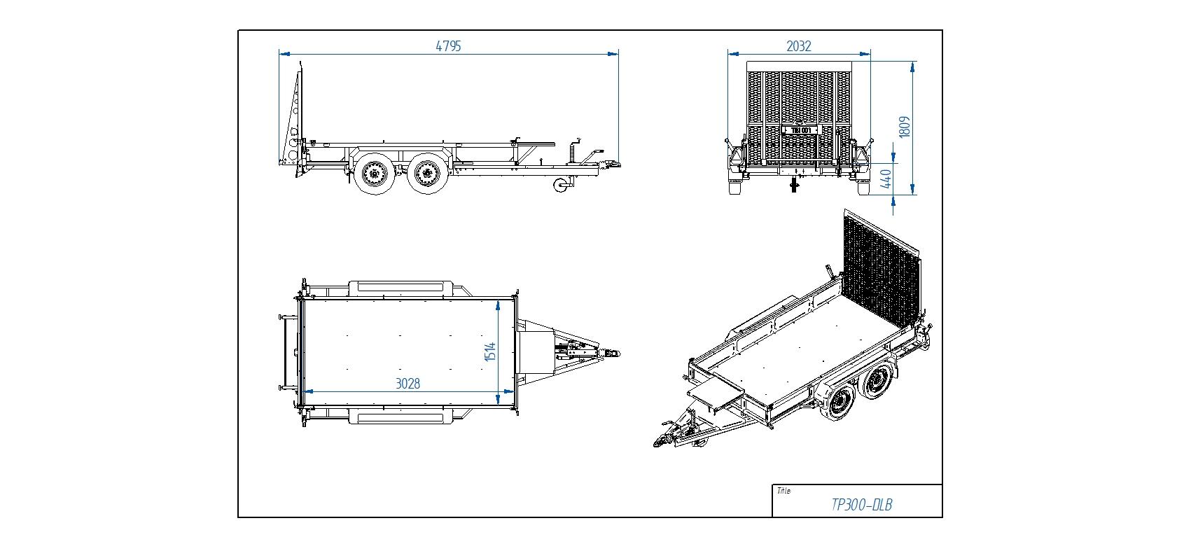 TP300-DLB [Attēli ir informatīvi un piekabes komplektācijā var būt iekļauts papildu aprīkojums]