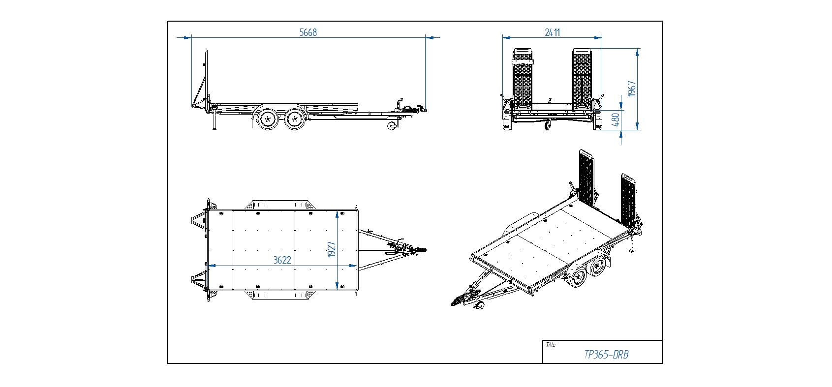 TP365-DRB [Attēli ir informatīvi un piekabes komplektācijā var būt iekļauts papildu aprīkojums]