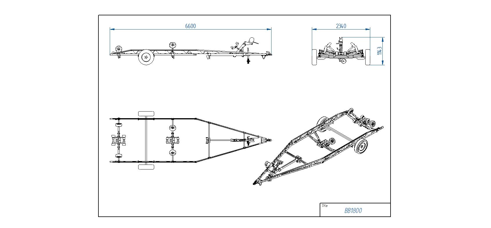 BB1800 Pludmales piekabe [Attēli ir informatīvi un piekabes komplektācijā var būt iekļauts papildu aprīkojums]