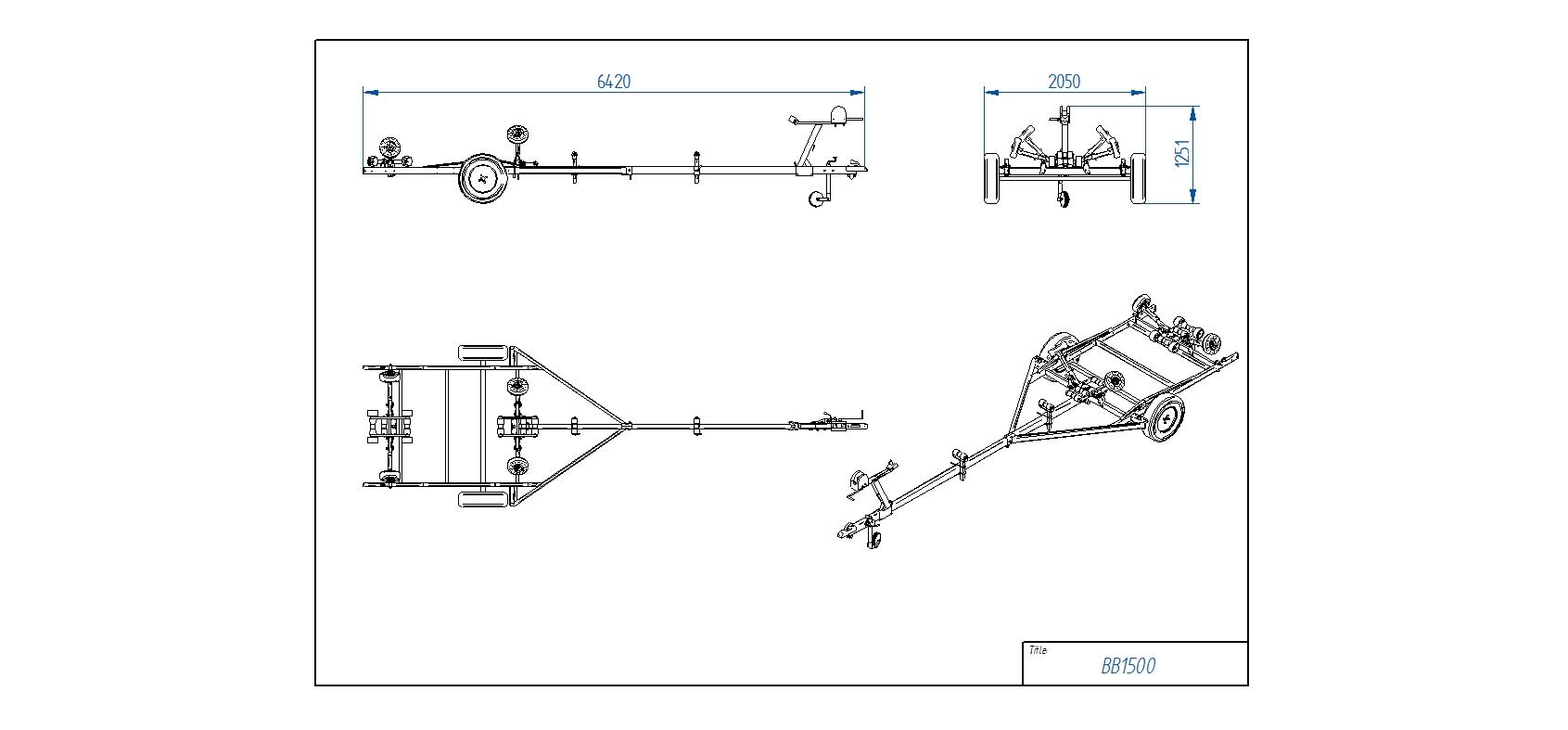BB1500 Pludmales piekabe [Attēli ir informatīvi un piekabes komplektācijā var būt iekļauts papildu aprīkojums]