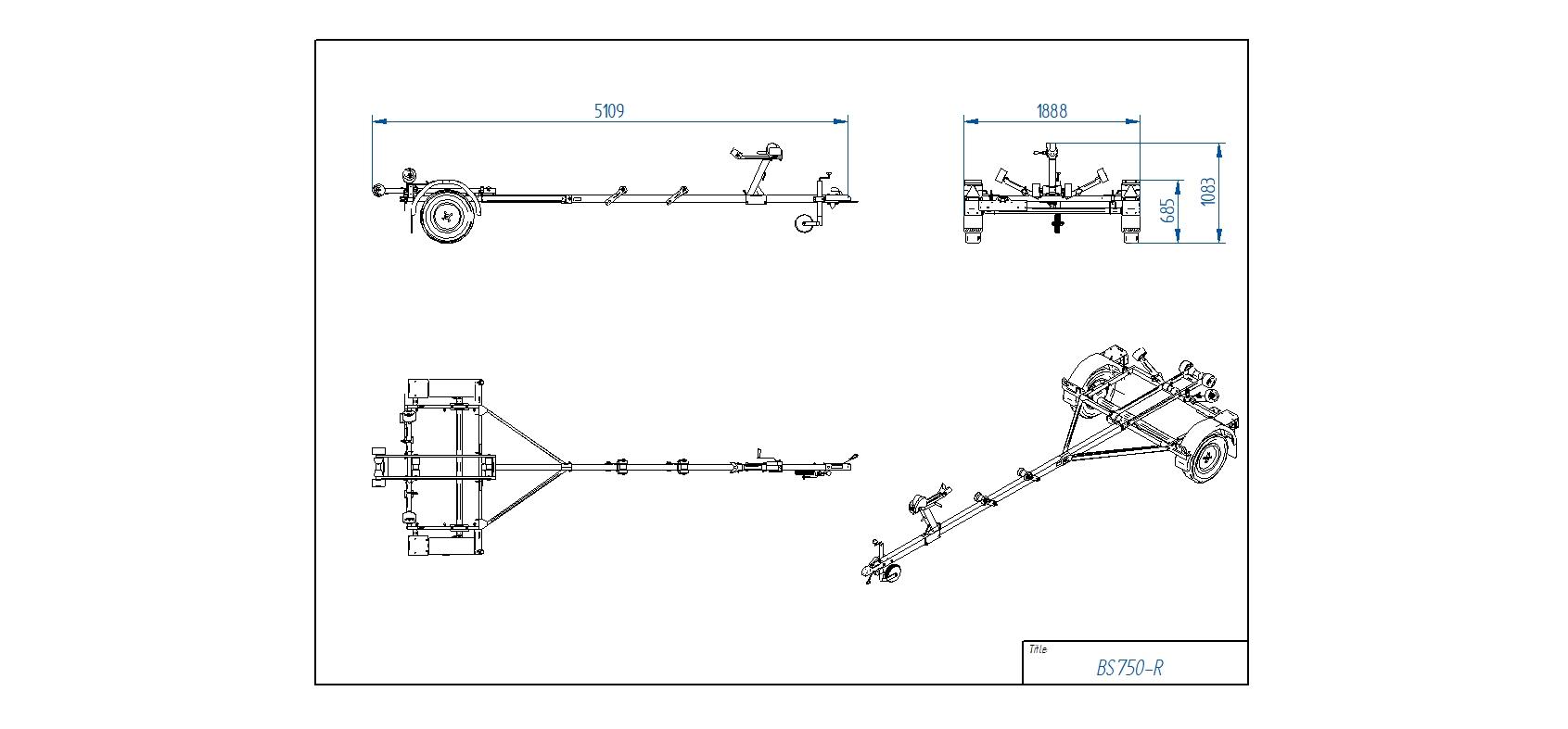 BS750-R [Attēli ir informatīvi un piekabes komplektācijā var būt iekļauts papildu aprīkojums]