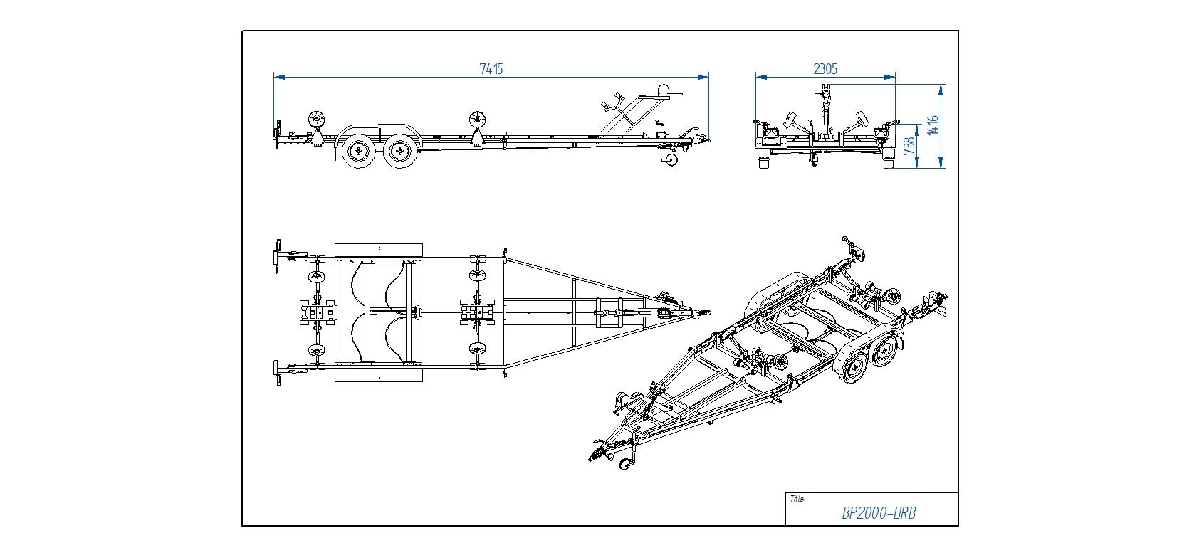 BP2000-DRB  [Attēli ir informatīvi un piekabes komplektācijā var būt iekļauts papildu aprīkojums]