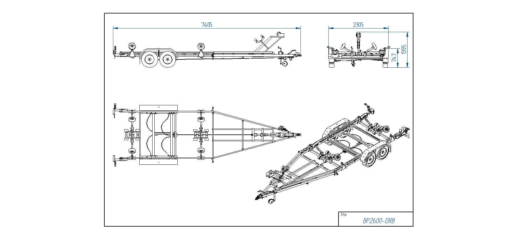 BP2600-DRB  [Attēli ir informatīvi un piekabes komplektācijā var būt iekļauts papildu aprīkojums]