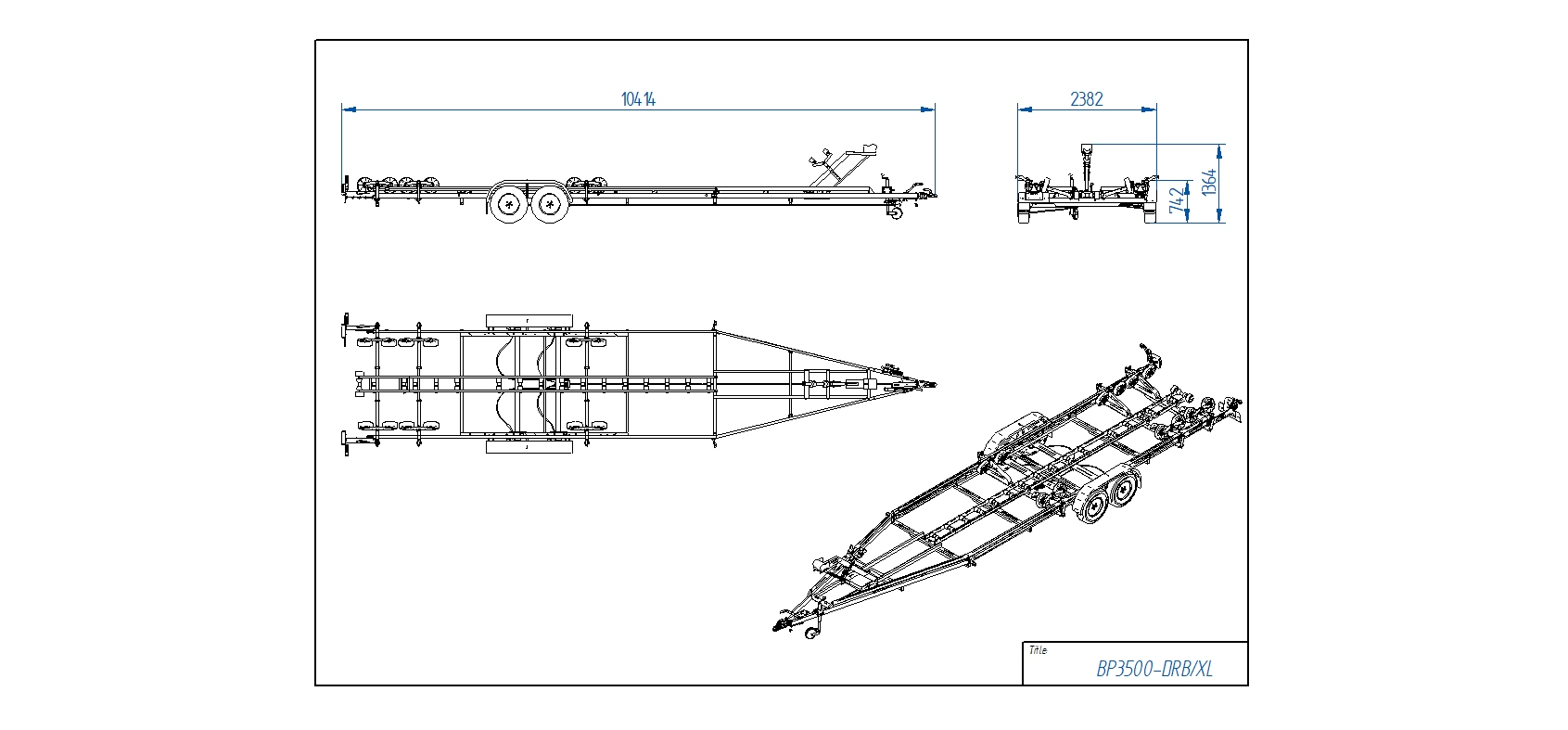 BP3500-DRB/XL  [Attēli ir informatīvi un piekabes komplektācijā var būt iekļauts papildu aprīkojums]