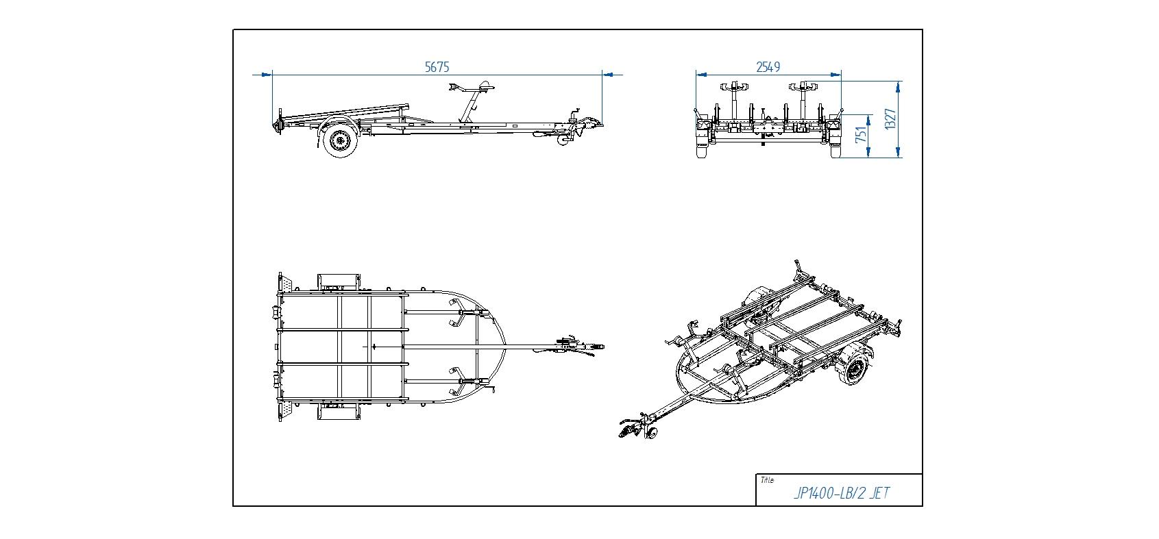 JP1400-LB 2 JET piekabe  [Attēli ir informatīvi un piekabes komplektācijā var būt iekļauts papildu aprīkojums]