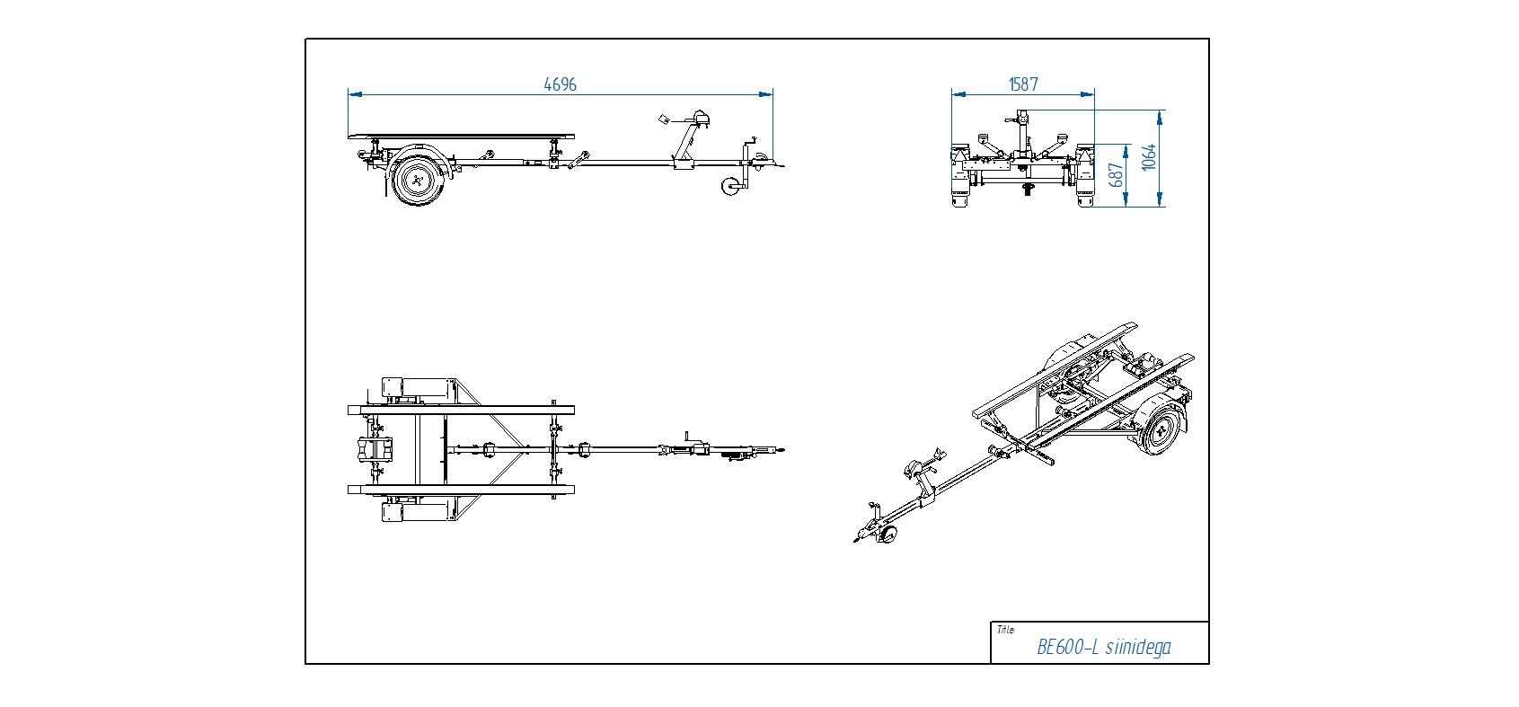 BE600-L koka sijas [Attēli ir informatīvi un piekabes komplektācijā var būt iekļauts papildu aprīkojums]