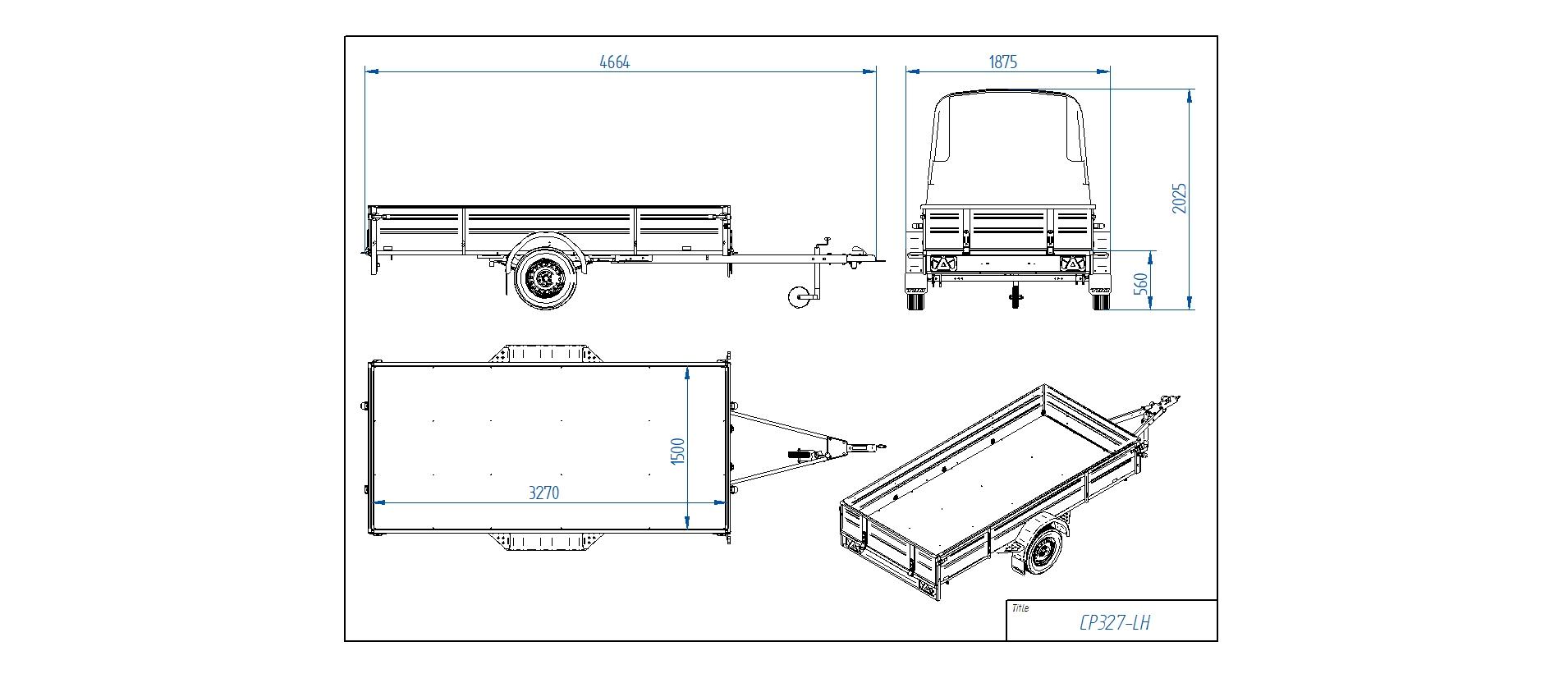 CP327-LH PRO  [Attēli ir informatīvi un piekabes komplektācijā var būt iekļauts papildu aprīkojums]